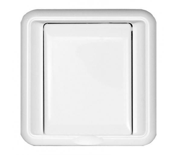 Gniazdo podtynkowe pojedyncze bryzgoszczelne klapka w kolorze obudowy białe COSMO 330439