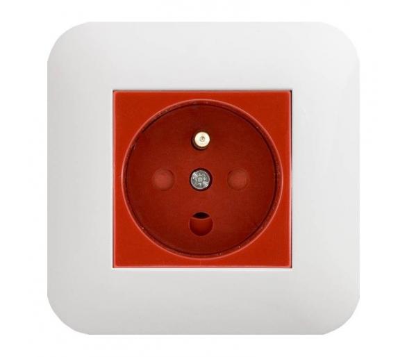 Gniazdo typu Data z z blokadą torów prądowych + klucz uprawniający czerwone COSMO 300443