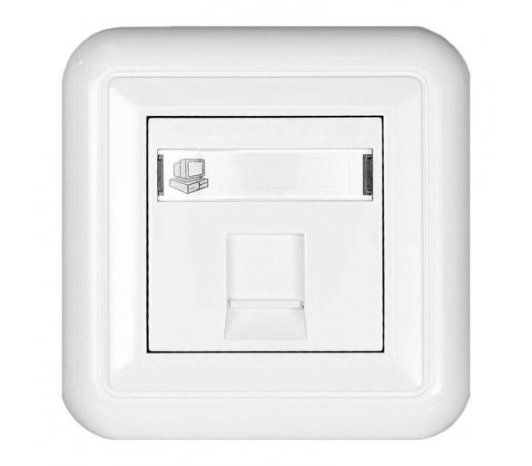 Gniazdo komputerowe (wkład: MOLEX), z zasłonka i etykietą białe COSMO 300465