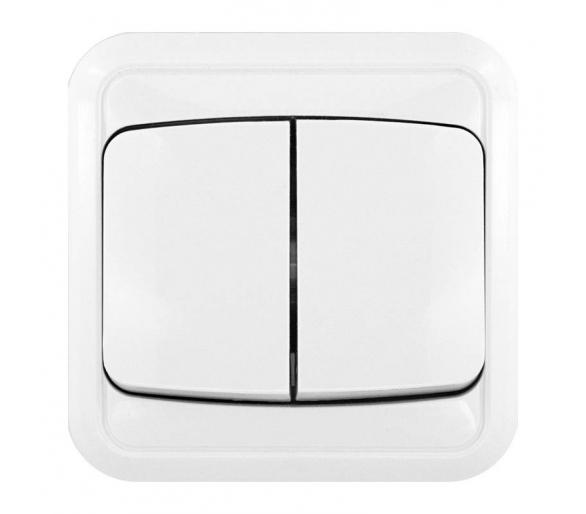 Łącznik podwójny (świecznikowy) biały COSMO 300405