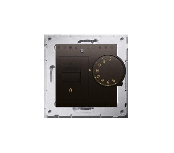Regulator temperatury z czujnikiem wewnętrznym brąz mat, metalizowany