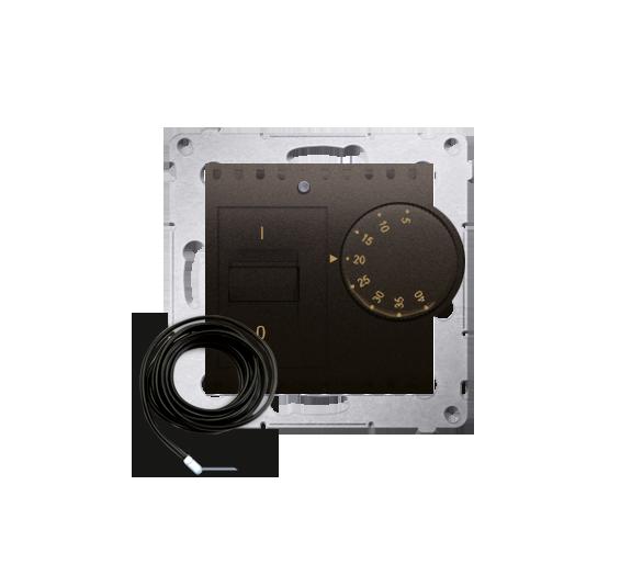 Regulator temperatury z czujnikiem zewnętrznym brąz mat, metalizowany