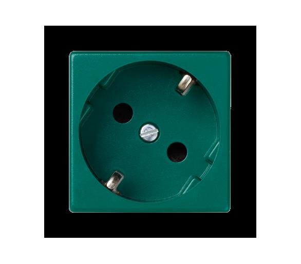 Gniazdo wtyczkowe pojedyncze K45 SCHUKO 16A 250V szybkozłącza 45×45mm zielony K11/27
