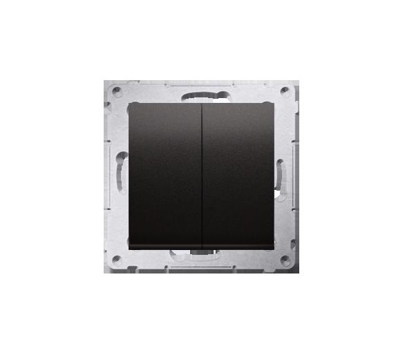 Przycisk podwójny zwierny bez piktogramu (moduł) 10AX, 250V, szybkozłącza, czarny DP2.01/49