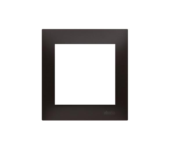 Ramka 1-krotna PREMIUM IP20 / IP44, czarny DR1/49