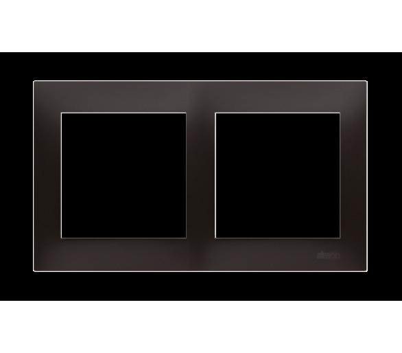 Ramka 2-krotna PREMIUM IP20 / IP44, czarny DR2/49