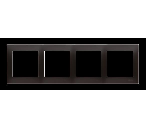 Ramka 4-krotna PREMIUM IP20 / IP44, czarny DR4/49
