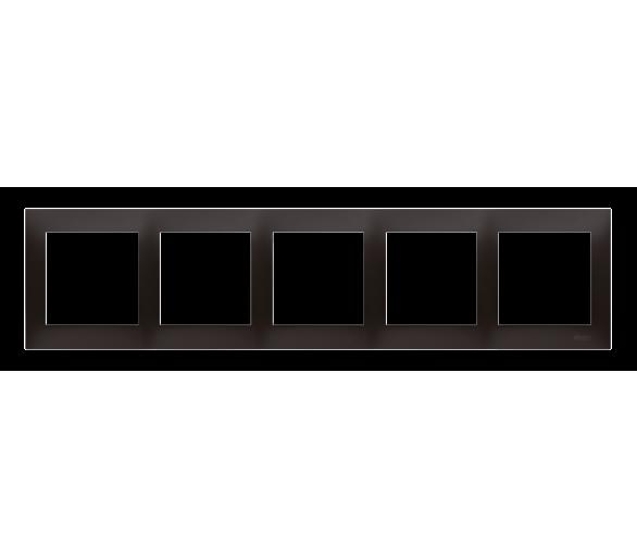 Ramka 5-krotna PREMIUM IP20 / IP44, czarny DR5/49
