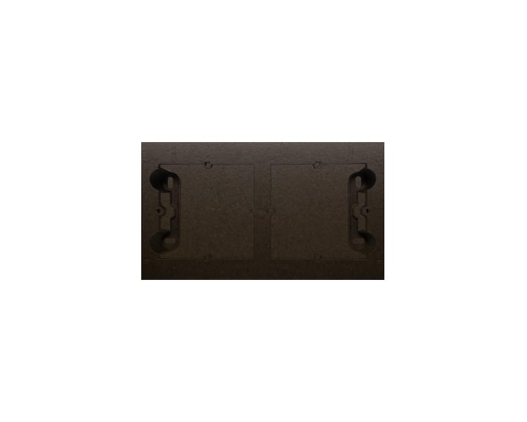 Puszka natynkowa 2-krotna brąz mat, metalizowany DPN2/46