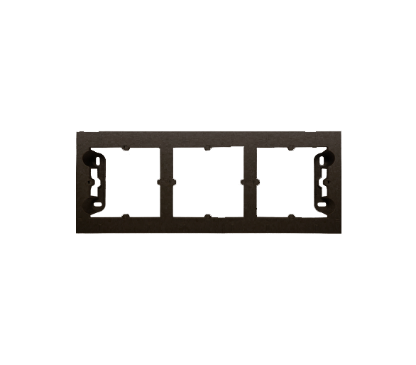 Puszka natynkowa 3-krotna brąz mat, metalizowany DPN3/46
