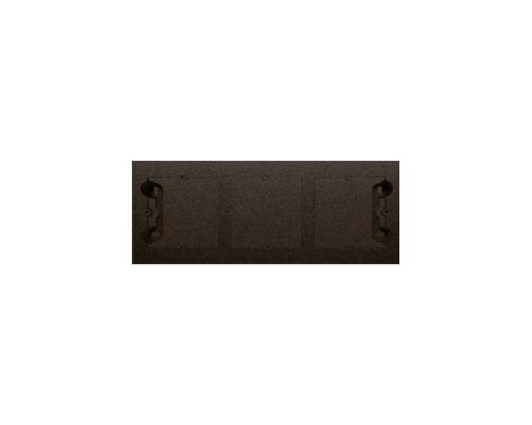 Puszka natynkowa 3-krotna brąz mat, metalizowany