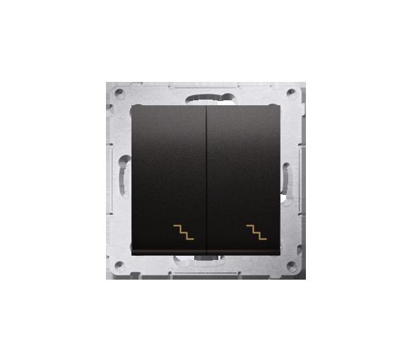 Łącznik schodowy podwójny (moduł) 10AX, 250V, zaciski śrubowe, czarny DW6/2.01/49