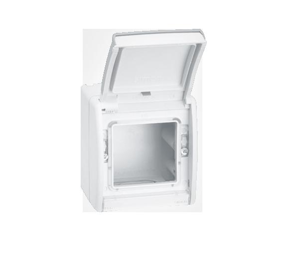 Puszka natynkowa pojedyncza składana biały 4490783-035