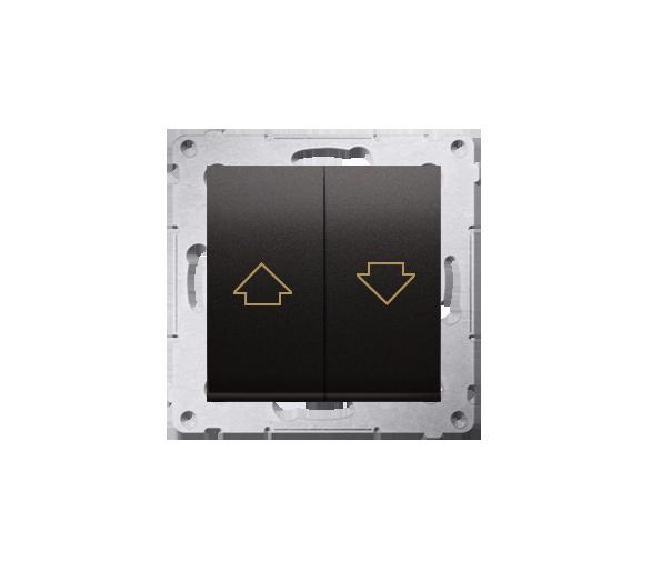 Przycisk roletowy (moduł) 16AX, 250V, zaciski śrubowe, czarny DZP1A.01/49