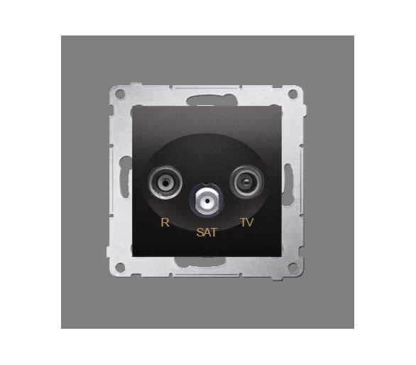Gniazdo antenowe R-TV-SAT końcowe/zakończeniowe (moduł), czarny DASK.01/49