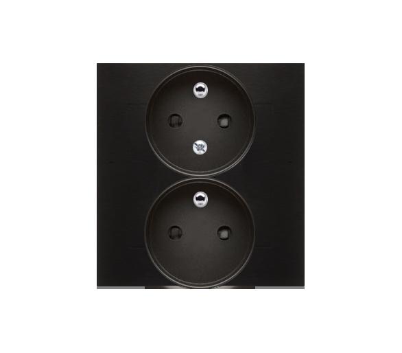 Gniazdo wtyczkowe z uziemieniem podwójne, z funkcją niezmienności faz, 16A, 250V, zaciski śrubowe. Kompletne - nie do ramek, cza