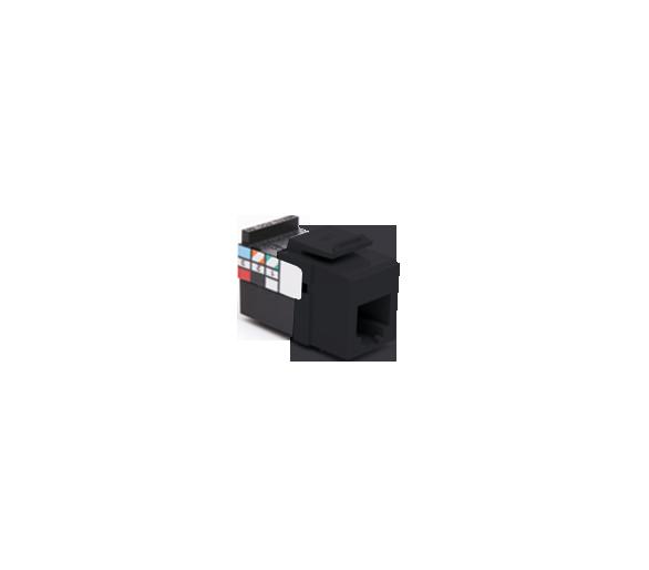 Wkład gniazda telefonicznego RJ12 czarny RJ12