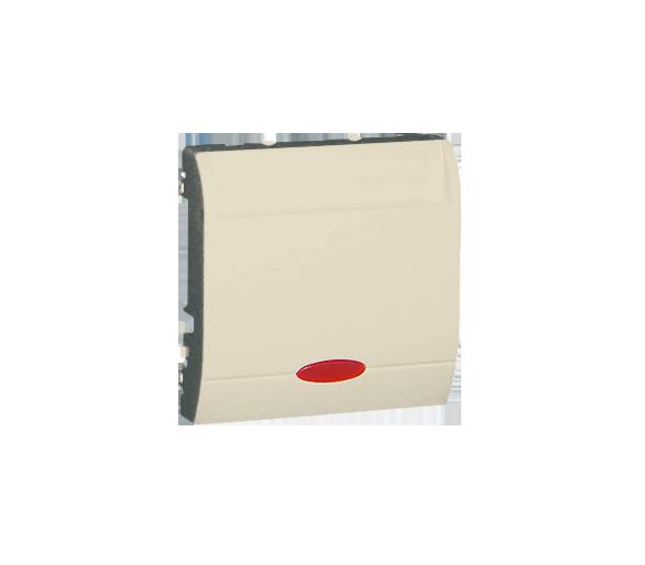 Łącznik hotelowy z podświetleniem beżowy 10A 2A MWH1.02/12