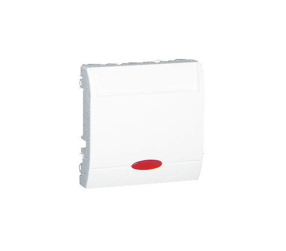 Łącznik hotelowy z podświetleniem biały 10A 2A MWH2.02/11