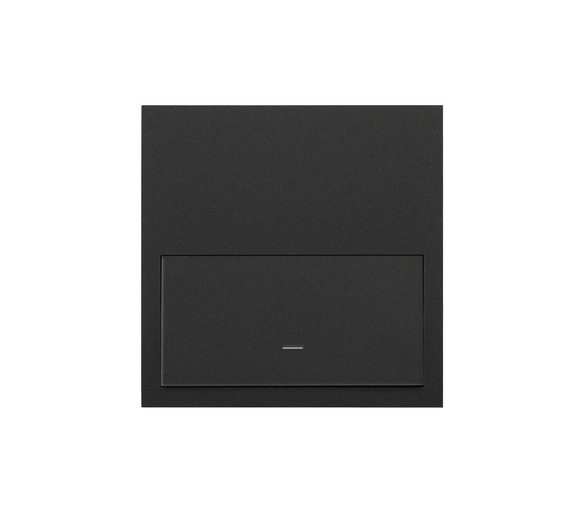 Panel 1-krotny 1 klawisz, czarny mat 10020101-238 Simon100