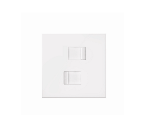 Panel 1-krotny 2 gniazda RJ45, biały mat 10020111-230 Simon100