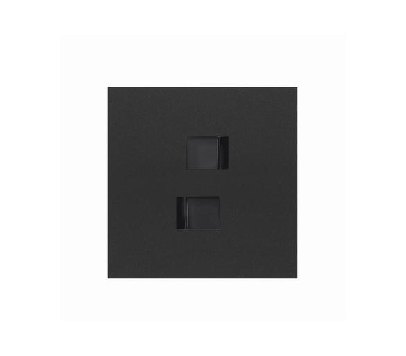 Panel 1-krotny 2 gniazda RJ45, czarny mat 10020111-238 Simon100