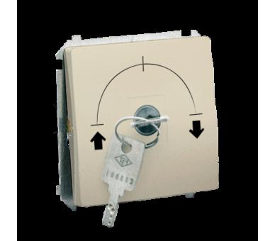 """Łącznik na kluczyk jednobiegunowy - 2 pozycyjny """"0-I"""" beżowy 5A MW1K.01/12"""