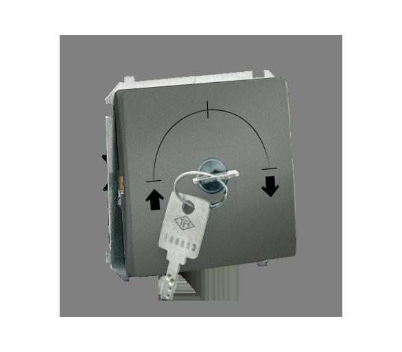 """Łącznik na kluczyk jednobiegunowy - 2 pozycyjny """"0-I"""" grafitowy, metalizowany 5A MW1K.01/25"""