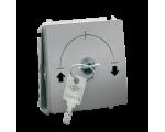 """Łącznik na kluczyk jednobiegunowy - 2 pozycyjny """"0-I"""" aluminiowy, metalizowany 5A MW1K.01/26"""