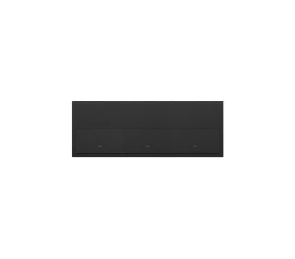 Panel 3-krotny 3 klawisze, czarny mat 10020301-238 Simon100