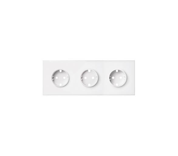 Panel 3-krotny 3 gniazda, biały mat 10020302-230 Simon100