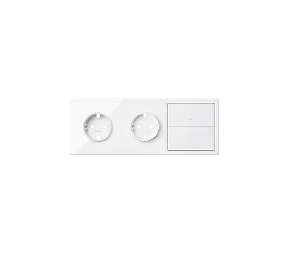 Panel 3-krotny 2 gniazda + 2 klawisze, biały 10020310-130 Simon100