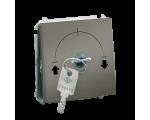 Łącznik na kluczyk żaluzjowy chwilowy platynowy, metalizowany 5A MPZK.01/27