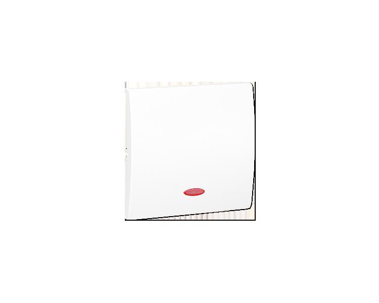 Klawisz pojedynczy z oczkiem do łączników i przycisków podświetlanych biały MKW1L/11