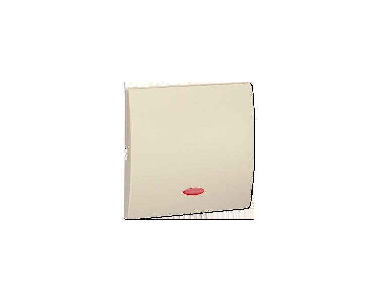 Klawisz pojedynczy z oczkiem do łączników i przycisków podświetlanych beżowy MKW1L/12