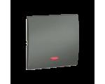 Klawisz pojedynczy z oczkiem do łączników i przycisków podświetlanych grafitowy, metalizowany MKW1L/25