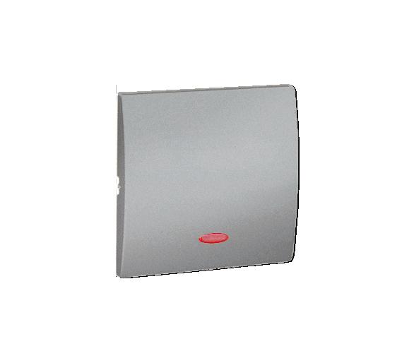 Klawisz pojedynczy z oczkiem do łączników i przycisków podświetlanych aluminiowy, metalizowany MKW1L/26