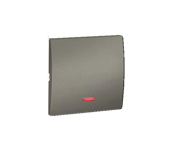 Klawisz pojedynczy z oczkiem do łączników i przycisków podświetlanych platynowy, metalizowany MKW1L/27