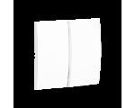 Klawisz podwójny do łączników i przycisków biały MKW5/11