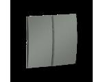 Klawisz podwójny do łączników i przycisków grafitowy, metalizowany MKW5/25