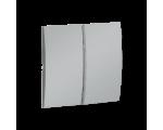 Klawisz podwójny do łączników i przycisków aluminiowy, metalizowany MKW5/26
