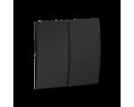 Klawisz podwójny do łączników i przycisków grafit mat, metalizowany MKW5/28