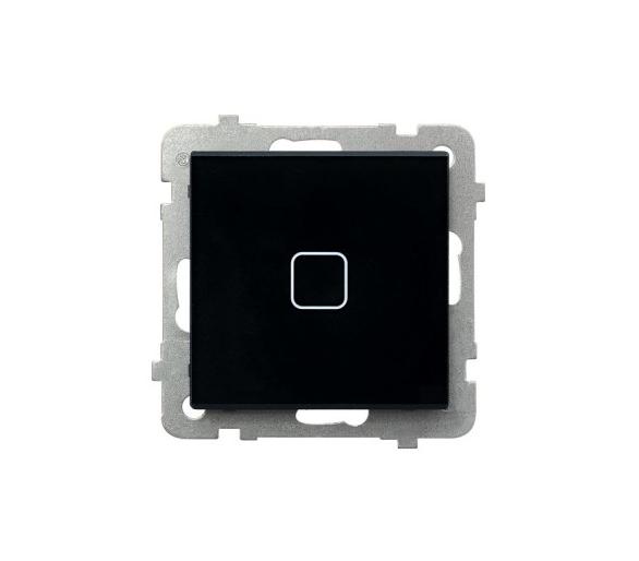 SONATA TOUCH Łącznik dotykowy jednobiegunowy z podświetleniem czarne szkło ŁPD-1RS/m/32