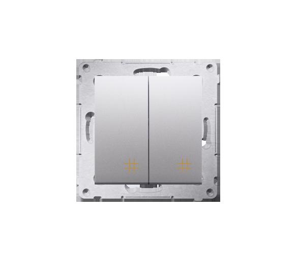 Łącznik krzyżowy podwójny (moduł) 10AX 250V, szybkozłącza, srebrny mat, metalizowany DW7/2.01/43
