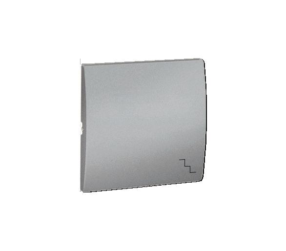 Klawisz pojedynczy do łączników i przycisków aluminiowy, metalizowany MKW6/26