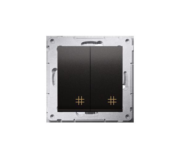 Łącznik krzyżowy podwójny (moduł) 10AX 250V, szybkozłącza, antracyt, metalizowany DW7/2.01/48