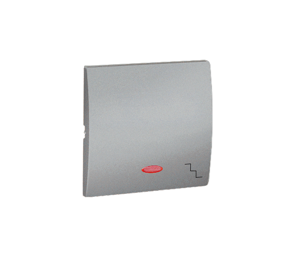 Klawisz pojedynczy z oczkiem do łączników i przycisków podświetlanych aluminiowy, metalizowany MKW6L/26