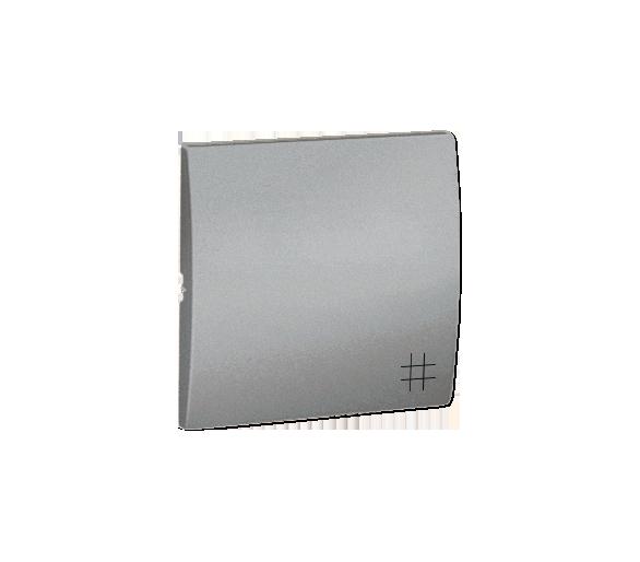 Klawisz pojedynczy do łączników i przycisków aluminiowy, metalizowany MKW7/26