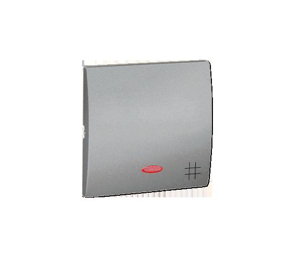 Klawisz pojedynczy z oczkiem do łączników i przycisków podświetlanych aluminiowy, metalizowany MKW7L/26