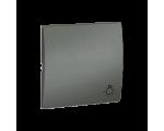Klawisz pojedynczy do łączników i przycisków grafitowy, metalizowany MKS1/25